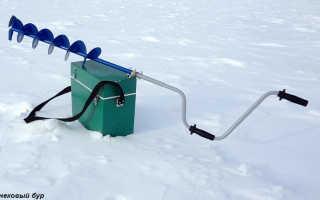 Ледобур своими руками: как сделать из бензопилы и стартера